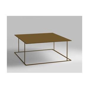 Konferenčný stolík v zlatej farbe Custom Form Walt, 100 × 100 cm