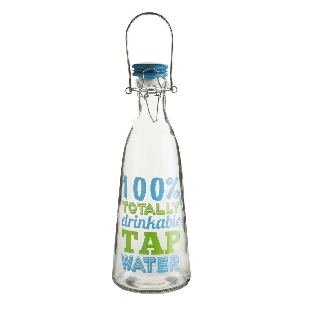 Sklenená fľaša na vodu s keramickým vekom Premier Housewares, 1000 ml