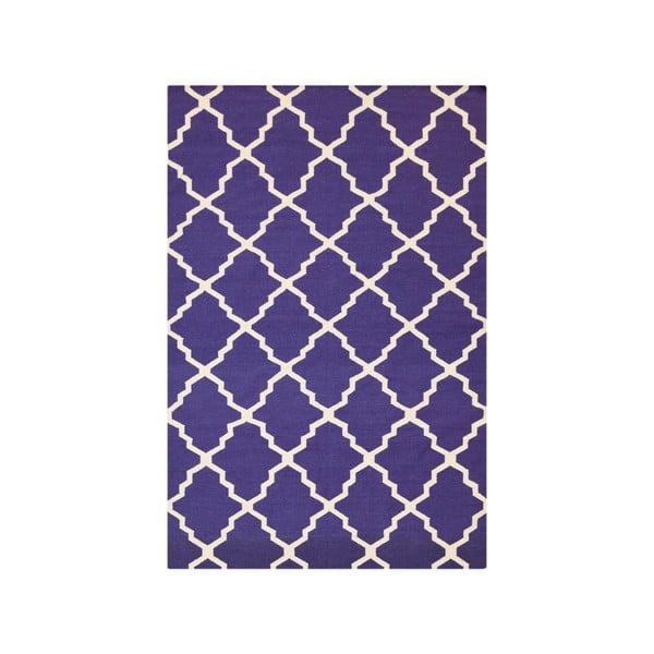 Vlnený modrý koberec Bakero Kilim Jasmina Navy Blue, 160 x 230 cm
