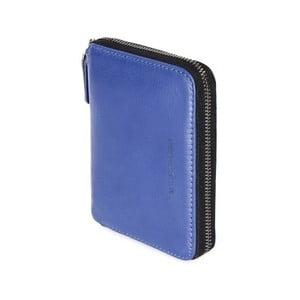 Modrá peňaženka z talianskej kože Tucano Sicuro