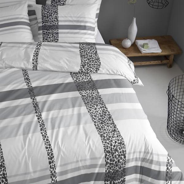 Obliečky Leopard 200x200 cm, šedé