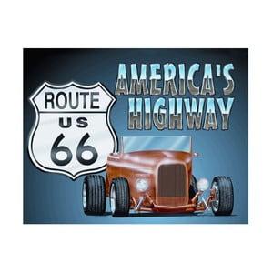 Plechová ceduľa America´s Highway, 30x40 cm