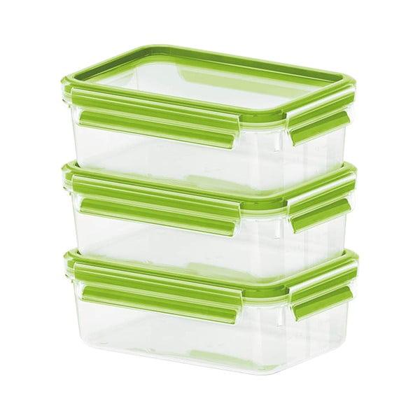 Sada 3 krabičiek na jedlo Clip&Close Light Green, 3x0,55 l