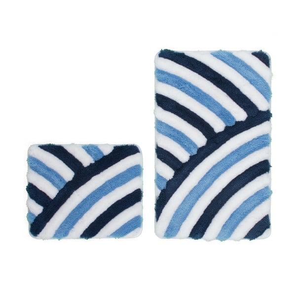 Sada 2 kúpeľňových predložiek Lobby Blue