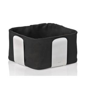 Košík na pečivo s čiernou bavlnenou vložkou Blomus Desa, šírka 19,5 cm