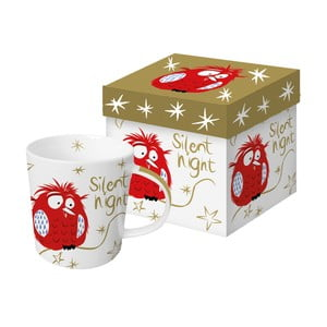 Porcelánový hrnček s vianočným motívom v darčekovom balení PPD Silent Night Robin, 350 ml