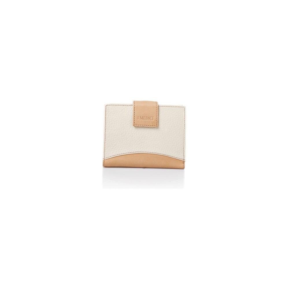 0cb28506c2 Bielo-béžová kožená dámska peňaženka Medici of Florence Vachetta ...