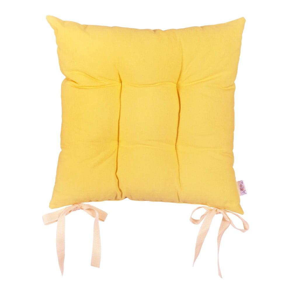 Žltý sedák Apolena Simply Yellow, 41 × 41 cm