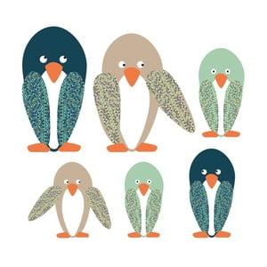 Nástenné samolepky Art For Kids Penguin Family