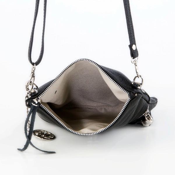 Kožená kabelka Roberto, čierna
