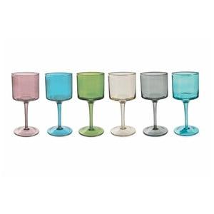 Sada 6 farebných pohárov na víno Villa d'Este Cromie, 450 ml