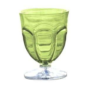 Sada 6 zelených plastových pohárov na vodu Sunvibes Happy, 250 ml