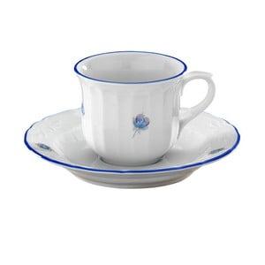 Sada 6 porcelánových šálok s tanierikmi Kutahya Smulo