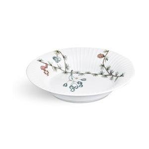 Biely porcelánový vianočný polievkový tanier Kähler Design Hammershoi, ⌀ 21 cm