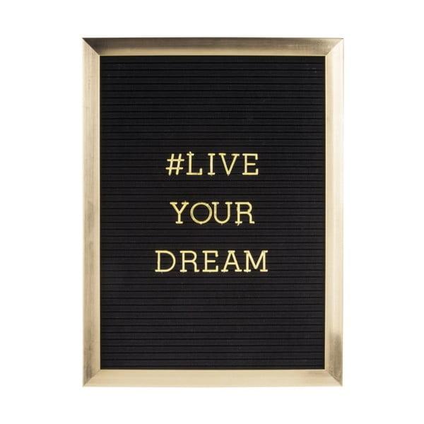 Fotorám so zlatým nápisom PT LIVING Quote, 30×40 cm