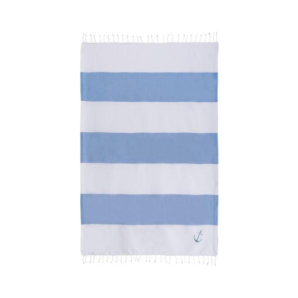 Hamam osuška Sea Pool White Blue, 100x170 cm