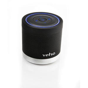 Čierny mini reproduktor Veho Bluetooth 360BT s Micro SD kartou