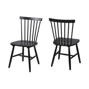 Čierna jedálenská stolička Actona Riano