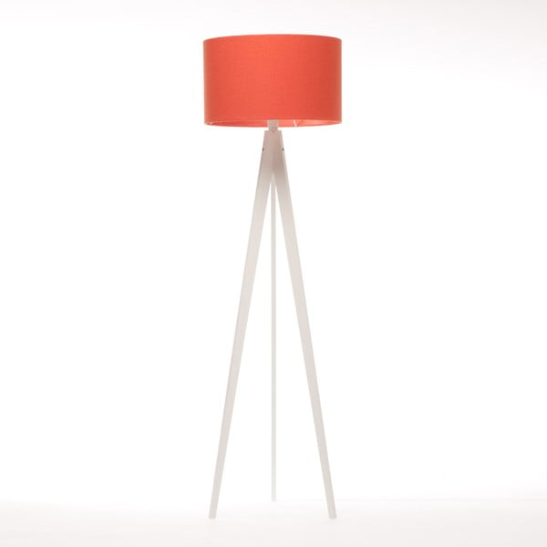 Stojacia lampa Artist Red Felt/White Birch, 125x42 cm