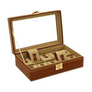 Hnedý kožený box na 10 hodiniek Friedrich Lederwaren Cordoba