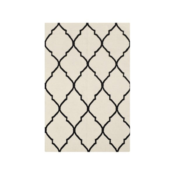 Vlnený koberec Bakero Caroline Ivory/Black,120x180cm