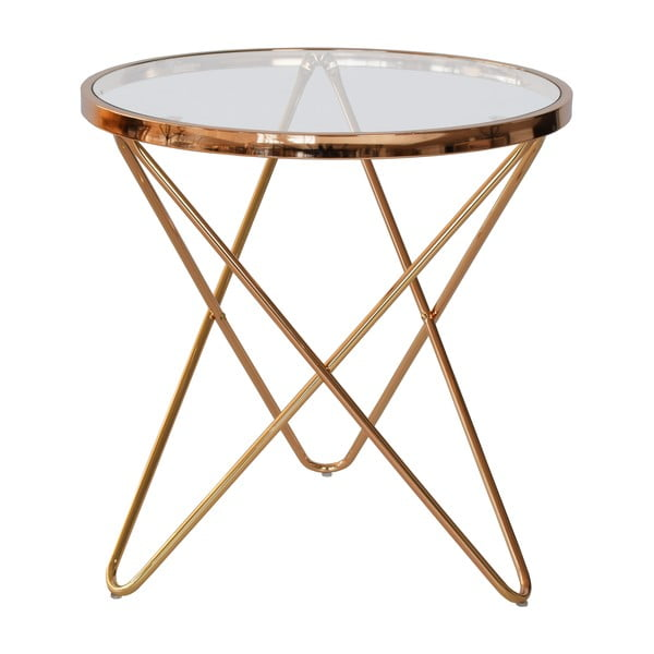 Sklenený odkladací stolík RGE Melissa, Ø54,5 cm
