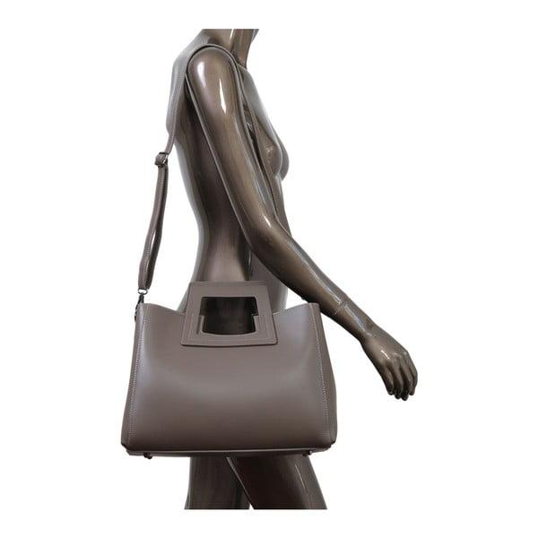 Béžová kabelka z pravej kože Andrea Cardone Pietro