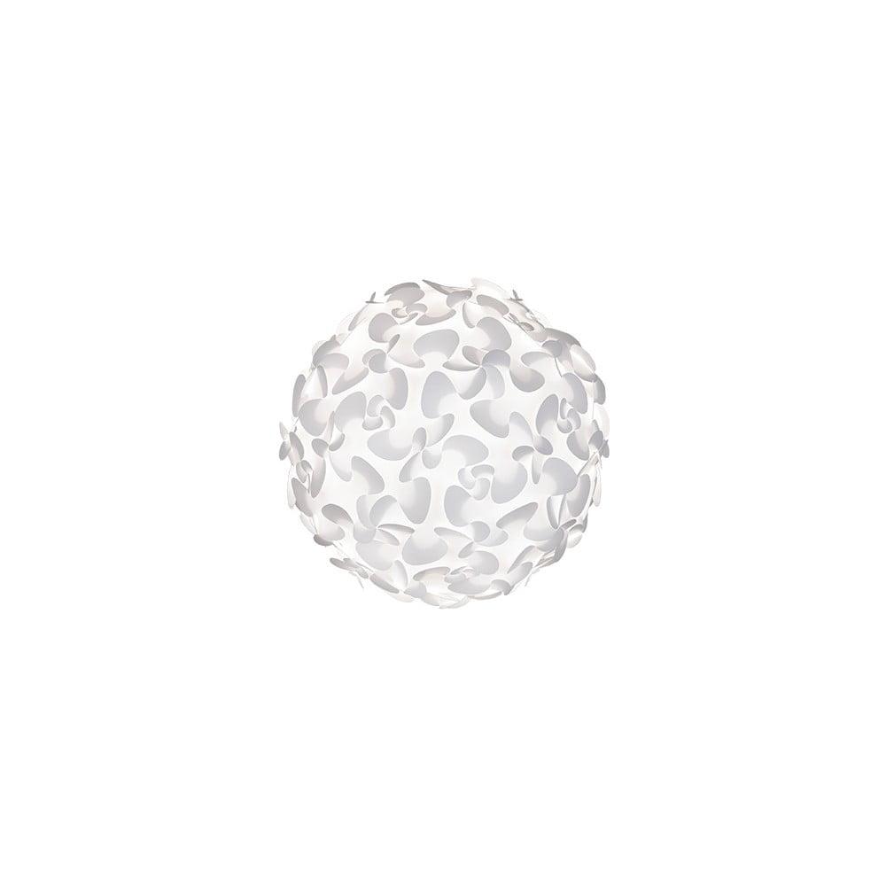 Biele stropné tienidlo VITA Copenhagen Lora, Ø 45 cm