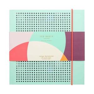 Svetlotyrkysový zápisník Ted Baker Colour By Numbers