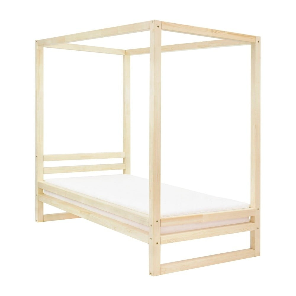 Drevená jednolôžková posteľ Benlemi Baldee Natura, 200 × 120 cm