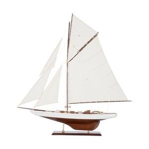 Dekoratívna plachetnica Sail Boat White, 103 cm
