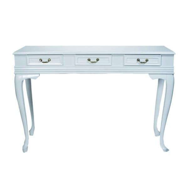 Konzolový stolík Genova White, 120x40x82 cm