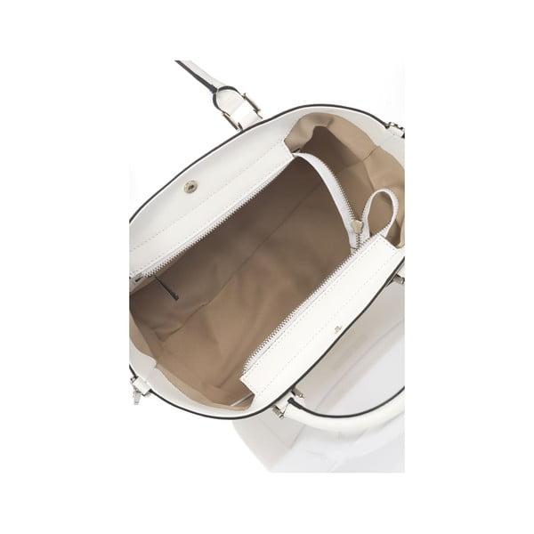 Biela kožená kabelka Krole Kayleen