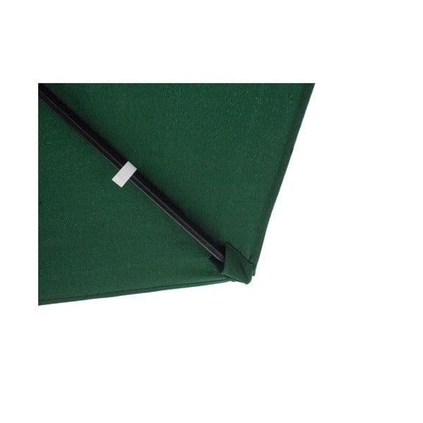 Slnečník Vetro 300 cm, tmavozelený