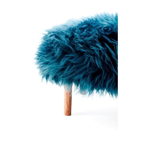 Stolička z ovčej kože Bonwen Teal
