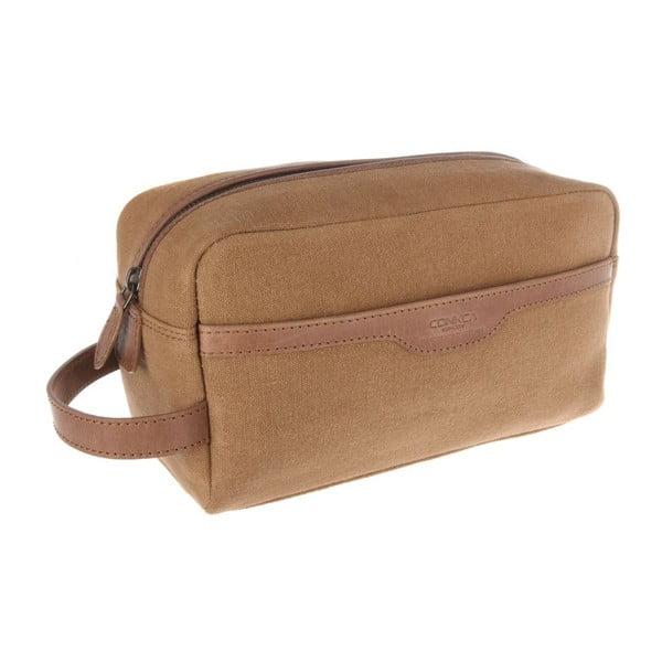 Kožená kozmetická taška Lake Vintage Brown