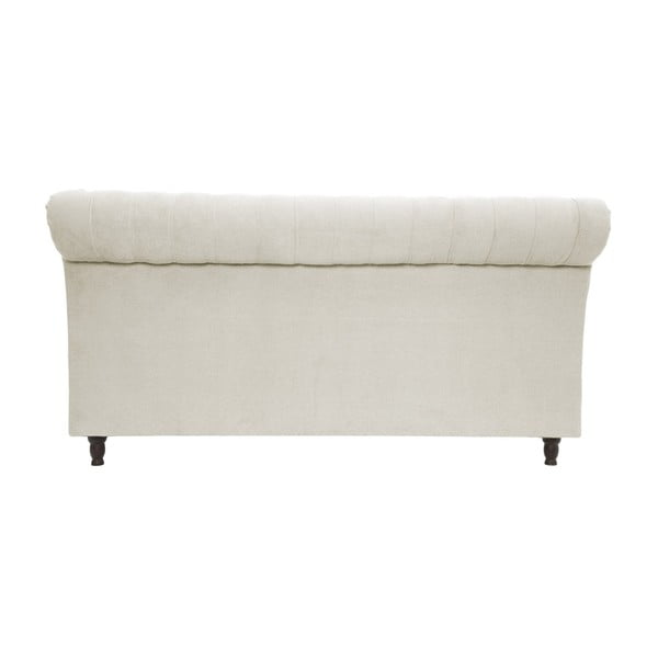 Béžová posteľ Vivonita Allon 180x200cm, čierne nohy