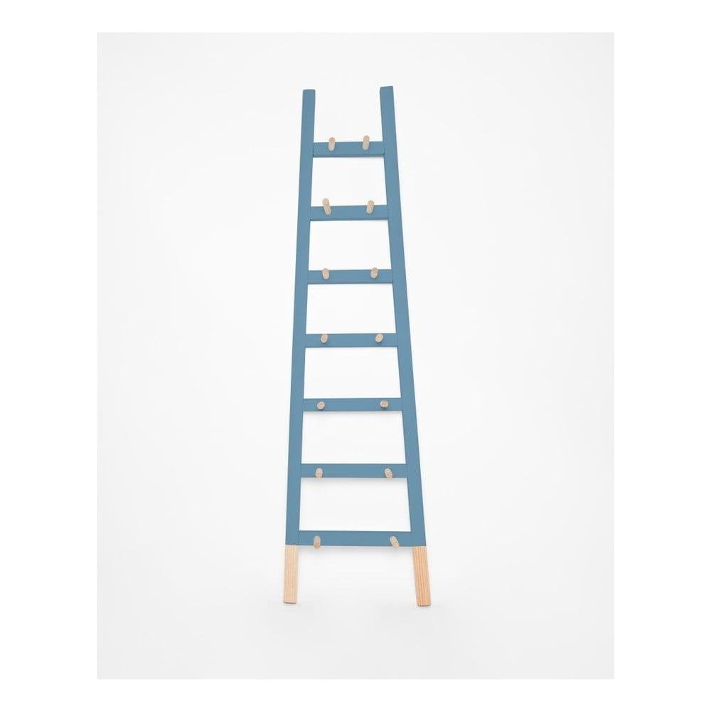Modrý odkladací dekoratívny rebrík z borovicového dreva Surdic Azul
