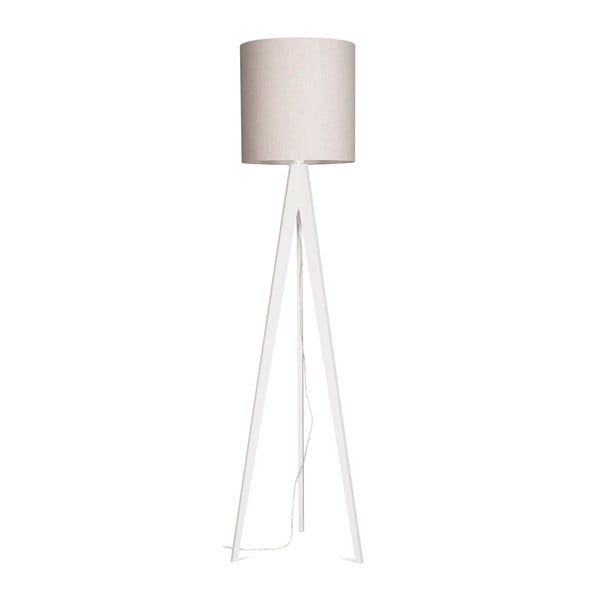 Krémová stojacia lampa 4room Artist, biela lakovaná breza, 158 cm