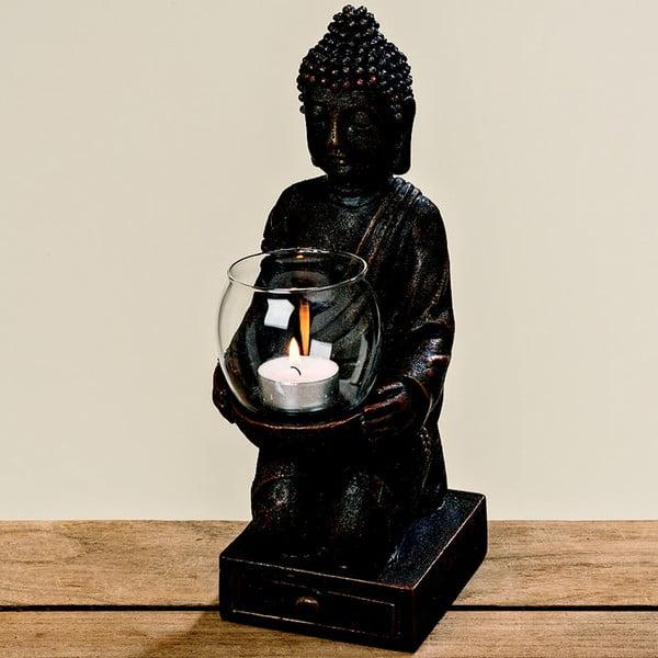 Čierny svietnik Boltze Buddha