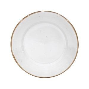 Biely tanier z kameniny Casafina Sardegna, ⌀ 30 cm
