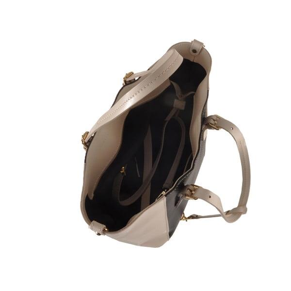 Kožená kabelka Gomeisa, čierna/béžová