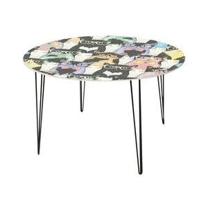 Jedálenský stôl Cats In Glasses, 120 cm