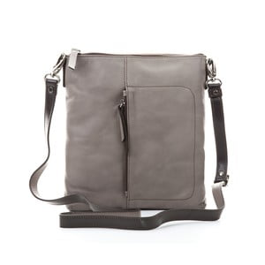 Sivá kožená kabelka Gianni Conti Marica