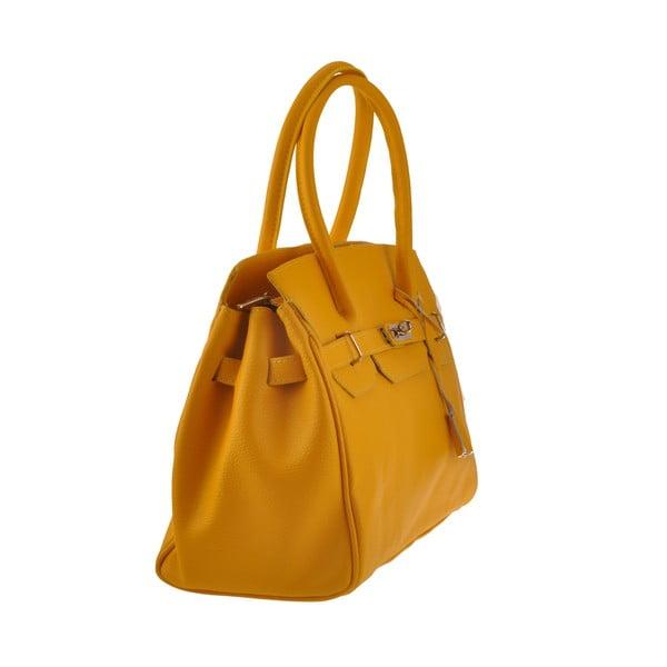 Žltá kožená kabelka Florence Gallina