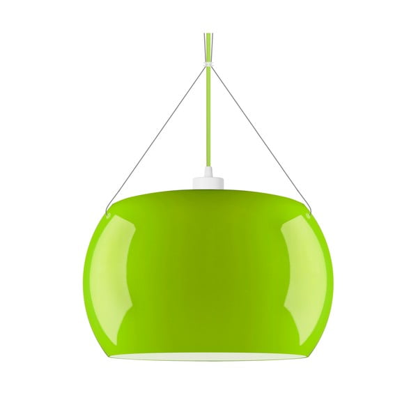 Svetlozelené lesklé závesné svietidlo Sotto Luce MOMO