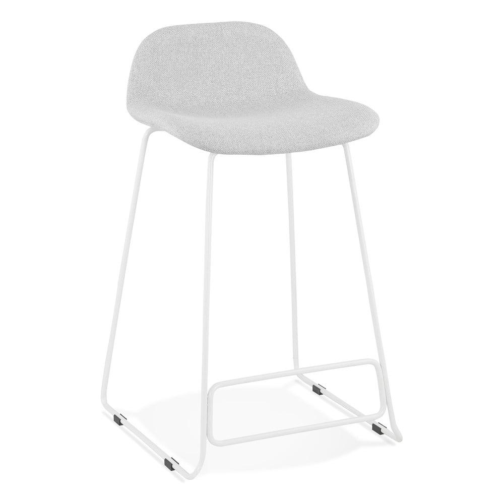 Svetlosivá barová stolička s bielymi nohami Kokoon Vancouver Mini, výška sedu 66 cm
