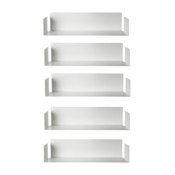 Sada piatich neviditeľných políc Judd U, bílé