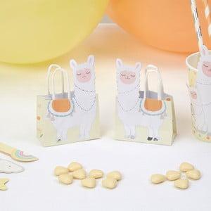 Sada 10 papierových taštičiek Neviti Llama Love