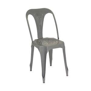 Sivá kovová stolička Antic Line Sofian